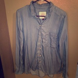Denim style button up
